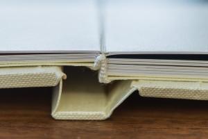 Genähte Seiten - so sind die Seiten des Buchblocks sicher und dauerhaft haltbar fixiert