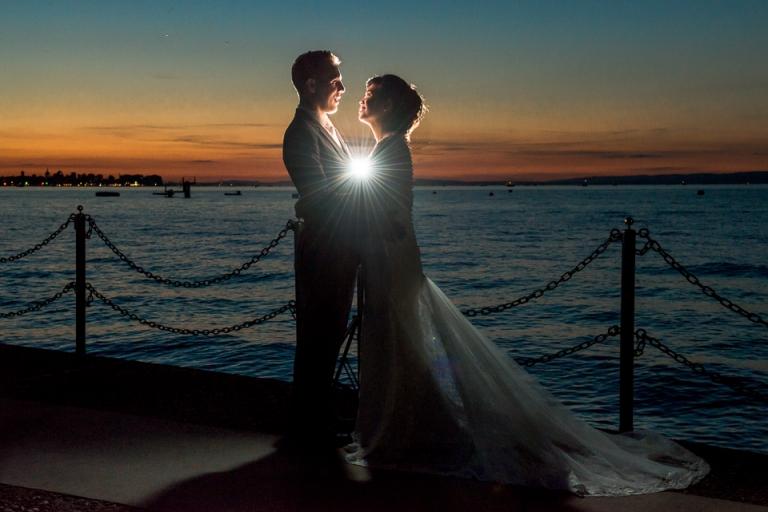 Hochzeitsfoto Sonnenuntergang Bodensee Schweiz