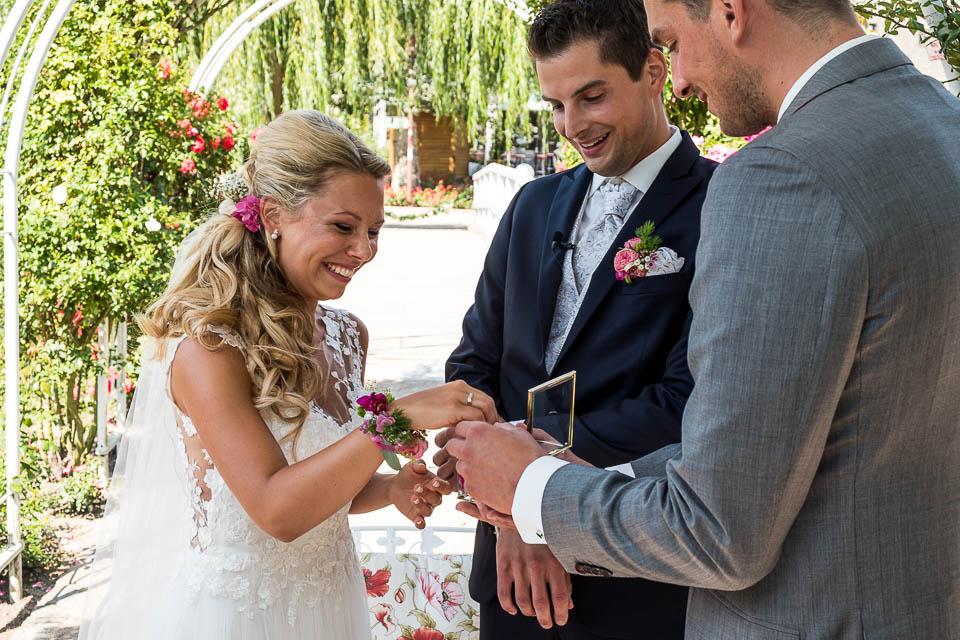 Trauung Hochzeitsinsel Rosarium Uetersen