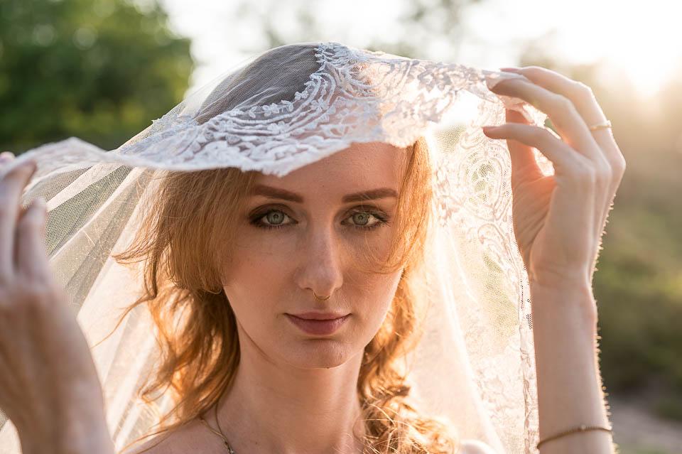 Brautboudoir Fotoshooting in der Heide