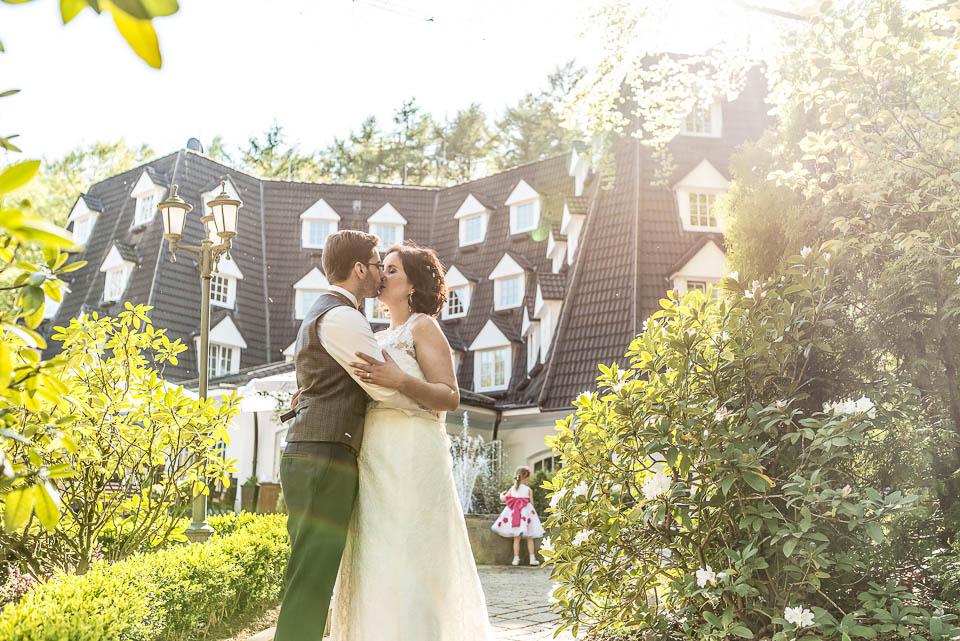 Waldhaus Reinbek Hochzeitsportrait Garten
