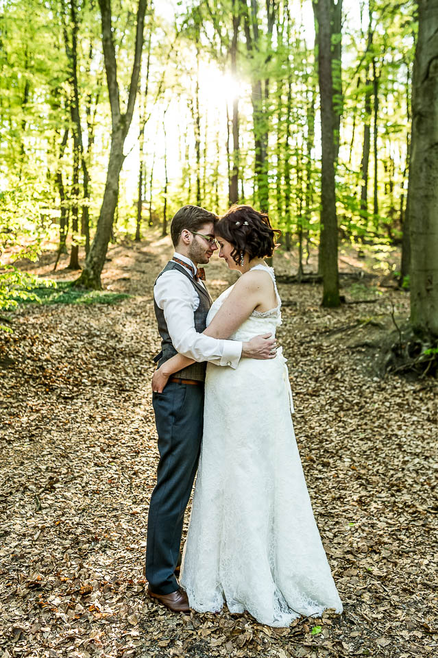 Waldhaus Reinbek Hochzeitsportrait Wald